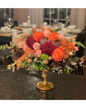 Golden Gathering Flower Arrangement
