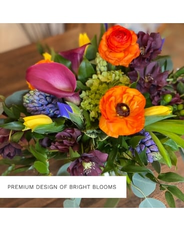 Premium Design of Bright Blooms Flower Arrangement