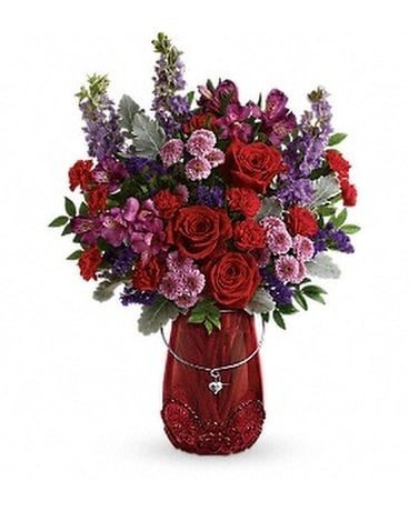 Teleflora's Delicate Heart Bouquet Flower Arrangement