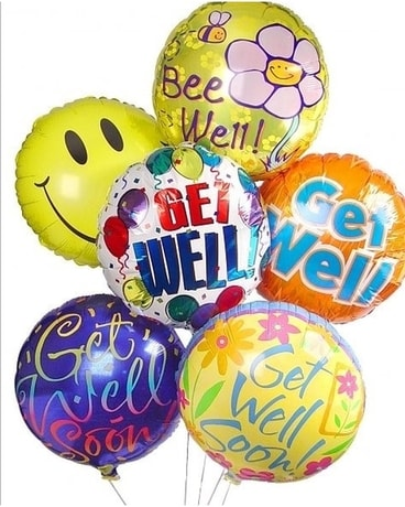 Get Well Balloon Bouquet Flower Arrangement