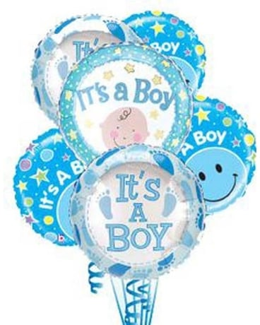 It's a Boy Balloon Bouquet Flower Arrangement