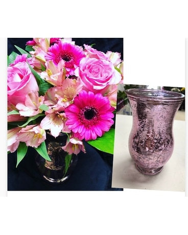 Pink Shimmer Flower Arrangement