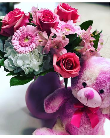 Pink & Plush Flower Arrangement