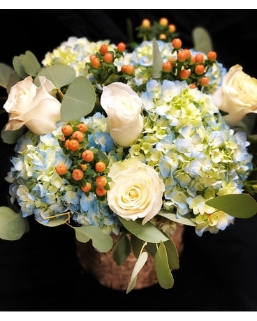 Cape Cod Autumn Hydrangeas & Berries Flower Arrangement
