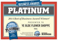 Platinum Business Award Winnder