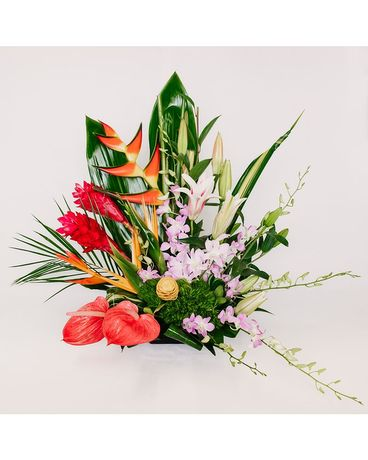Tropical Oasis Flower Arrangement