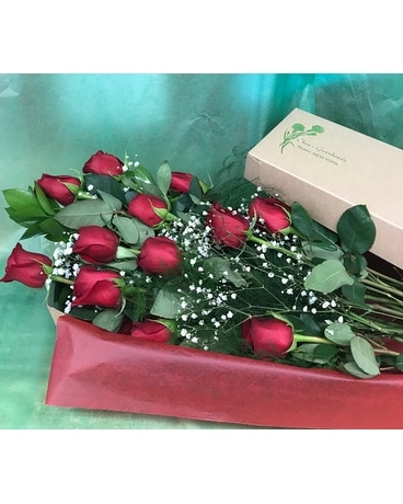 Long Stem Roses Boxed Flowers