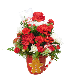 Gingy Flower Arrangement