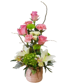 Tropical Pink Flower Arrangement