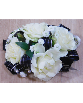 The Princess Black and Silver Flower Arrangement