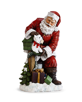 Santa With Mailbox Flower Arrangement