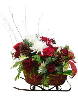 Dasher & Dancer Flower Arrangement