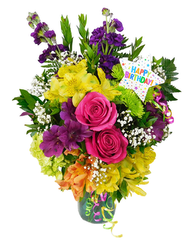 Birthday Wishes Flower Arrangement