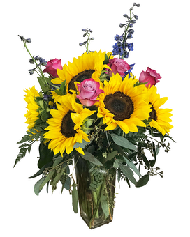 Pocket Full Of Sunflowers Flower Arrangement