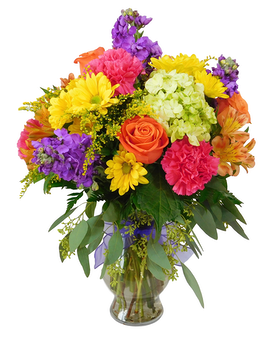 Color Explosion Flower Arrangement