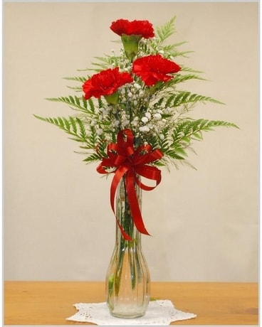 Carnation Bud Vase Bouquet Flower Arrangement