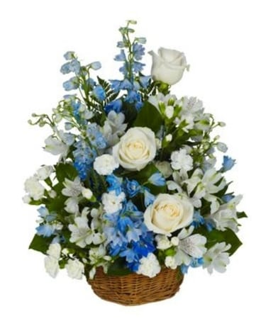 Blue Sky Basket Bouquet Basket Arrangement