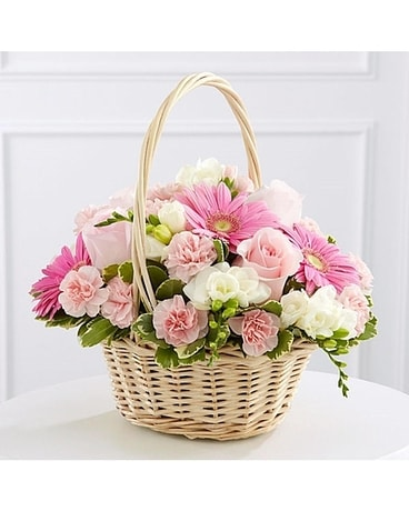 Southern Elegance Basket Bouquet Basket Arrangement
