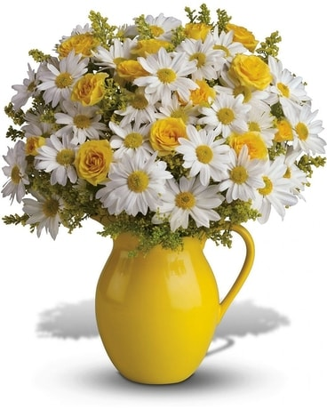 Sunny Day Pitcher Flower Arrangement