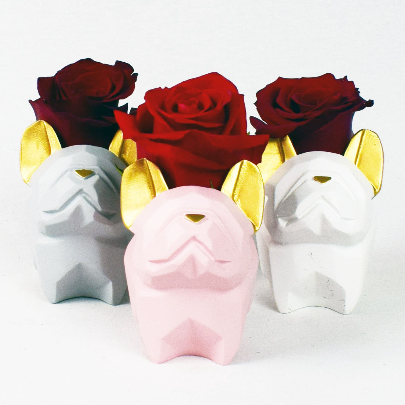 Frenchie Mini Rose Budvase