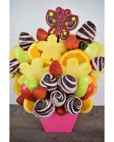 Sweet Swirl Fruit Bouquet Basket Arrangement