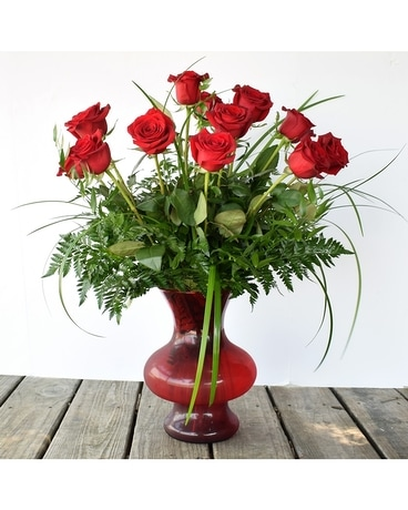 Red Bambino  Roses Flower Arrangement