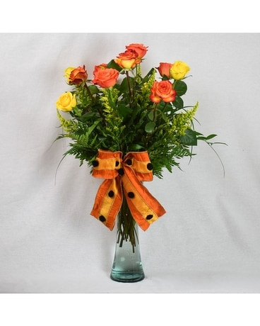October Roses Flower Arrangement