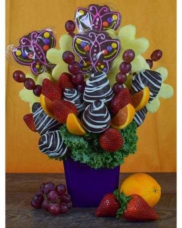 Mom's Week Fruit & Sweets Treat Flower Arrangement