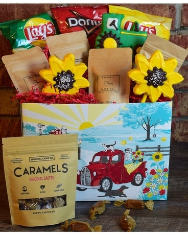 Country Sunshine Snack Box Gift Basket