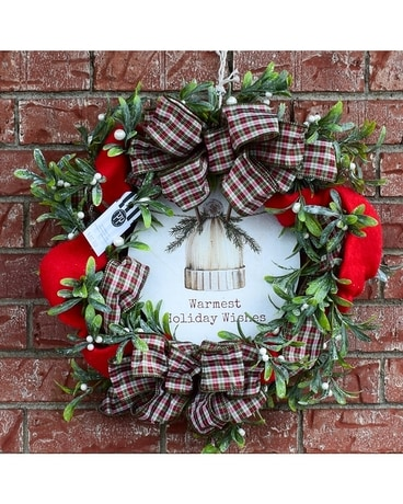 Wreath: Warmest Holiday Wishes Wreath