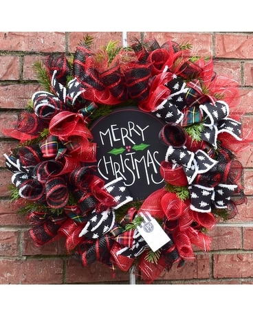Wreath: Black and Red Wreath