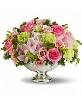 Teleflora's Garden Rhapsody Centerpiece Flower Arrangement