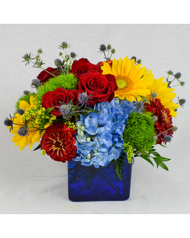 Summertime Blues Flower Arrangement