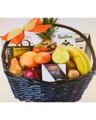 Gluten Free Gift Basket Flower Arrangement
