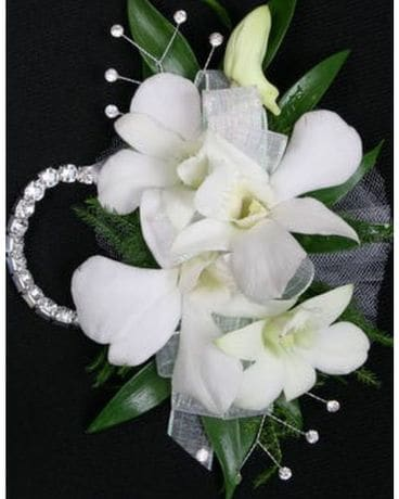 Orchid Wristlet Flower Arrangement