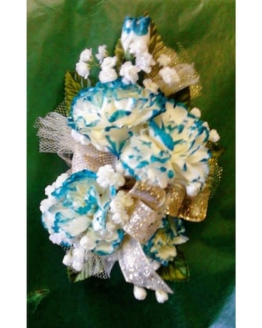 Tipped Miniature Carnation Corsage Corsage