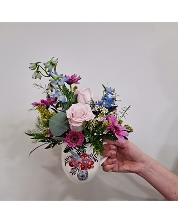 GeNell's Original Cup of Happy Flower Arrangement