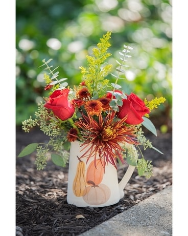 GeNell's Original Fall Pitcher Flower Arrangement
