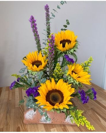 GeNell's Original Rustic Sunflowers Flower Arrangement
