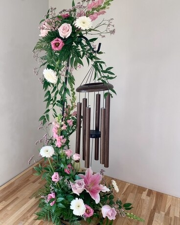 Windchime with Flowers Flower Arrangement