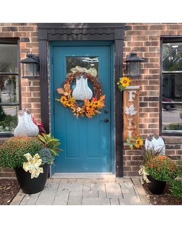 Deluxe Fall Porch Package Flower Arrangement