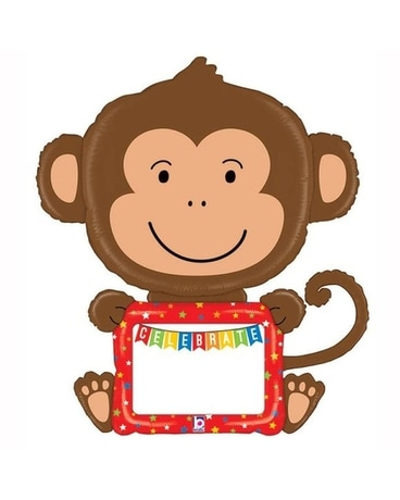 Customizable Monkey Balloon Gifts