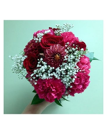 Hot hot pink posey in fairless hills pa flowers by jennie lynne hot hot pink posey flower arrangement mightylinksfo