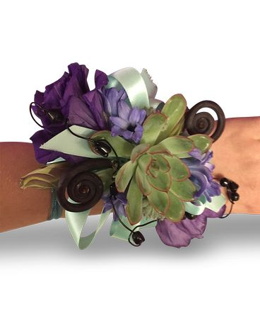 Swirls and Twirls Wristlet Flower Arrangement