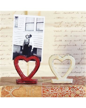 Heart Photo Holder Cast Iron Gifts