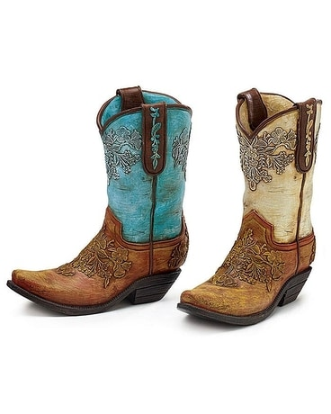 Flower Design Cowboy Boot Gifts