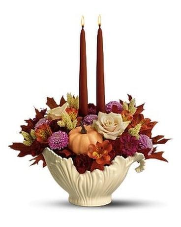 Lenox Sauce Server Bouquet By Teleflora Flower Arrangement