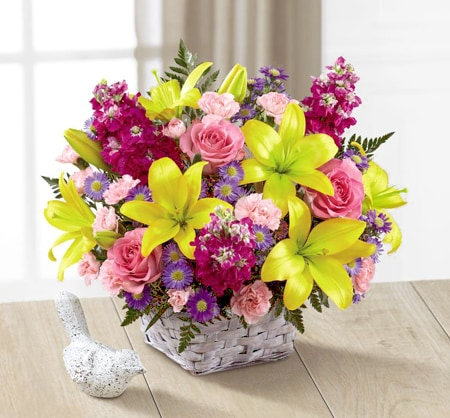 Spring Flowers Basket