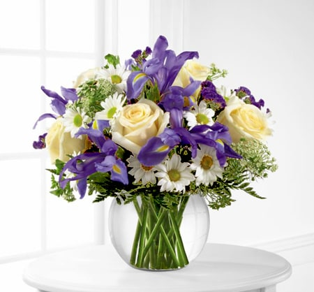 Iris, Roses and Daisies
