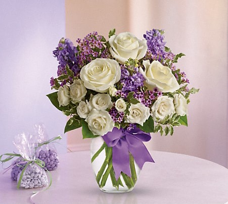 White and Lavender Flowers